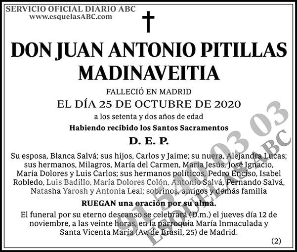 Juan Antonio Pitillas Madinaveitia