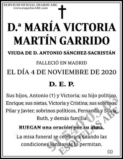 María Victoria Martín Garrido