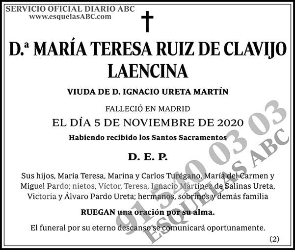 María Teresa Ruiz de Clavijo Laencina