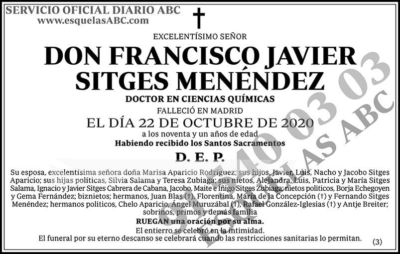 Francisco Javier Sitges Menéndez