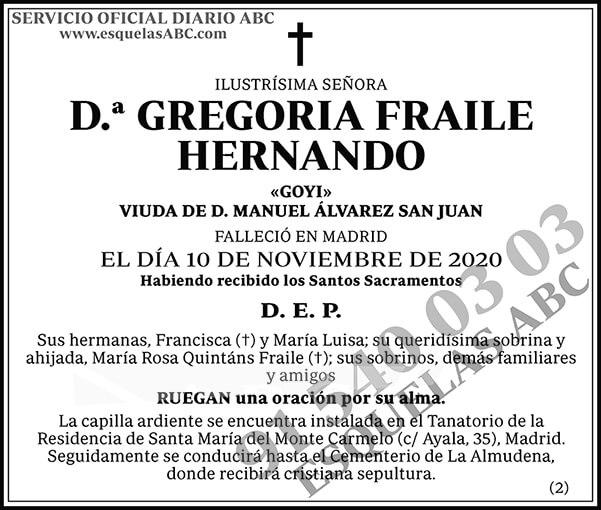 Gregoria Fraile Hernando