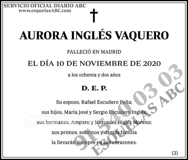 Aurora Inglés Vaquero