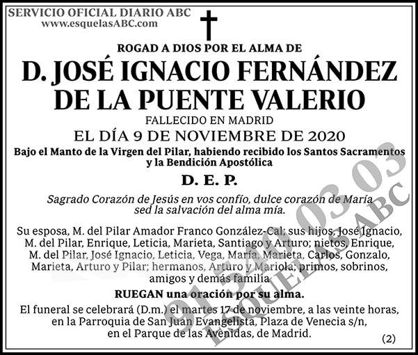 José Ignacio Fernández de la Puente Valerio