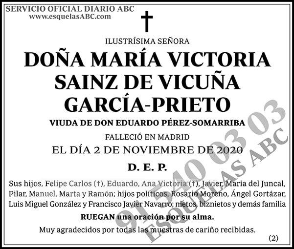 María Victoria Sainz de Vicuña García-Prieto