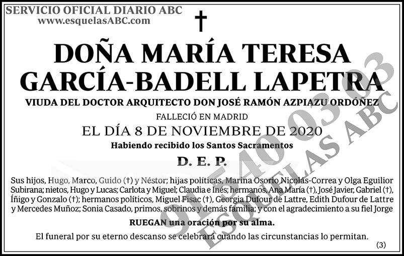 María Teresa García-Badell Lapetra