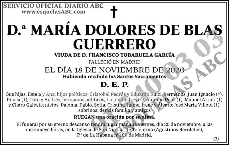 María Dolores de Blas Guerrero
