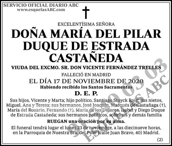 María del Pilar Duque de Estrada Castañeda