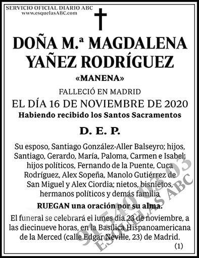 M.ª Magdalena Yañez Rodríguez