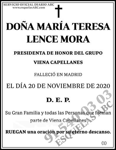 María Teresa Lence Mora