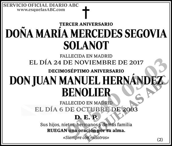 María Mercedes Segovia Solanot