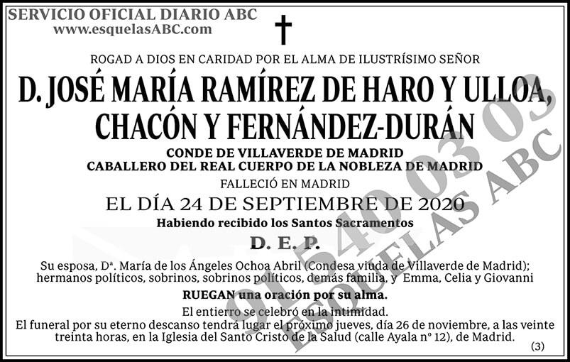 José María Ramírez de Haro y Ulloa, Chacón y Fernández-Durán