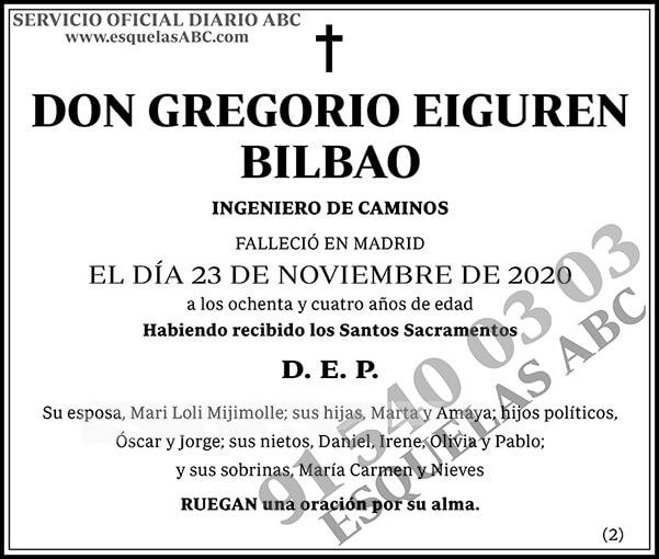 Gregorio Eiguren Bilbao