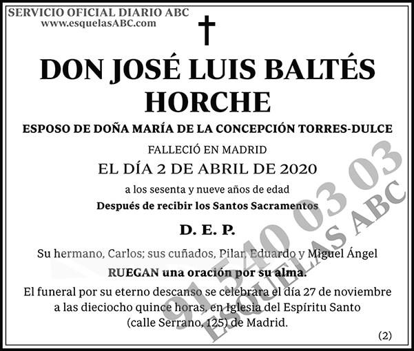 José Luis Baltés Horche