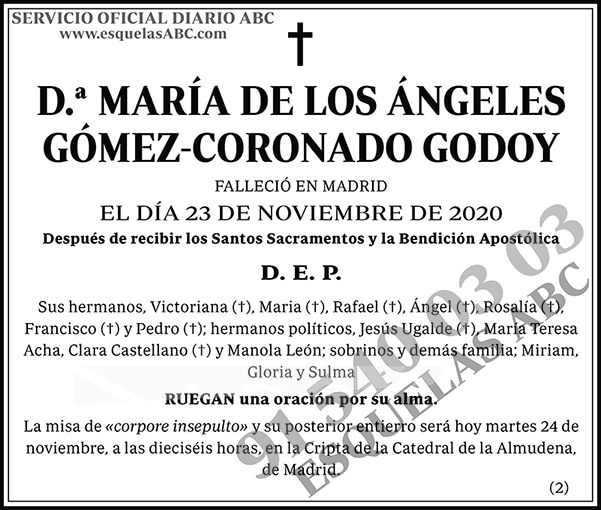 María de los Ángeles Gómez-Coronado Godoy