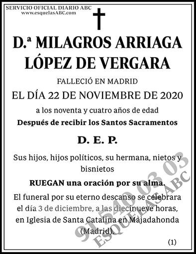 Milagros Arriaga López de Vergara