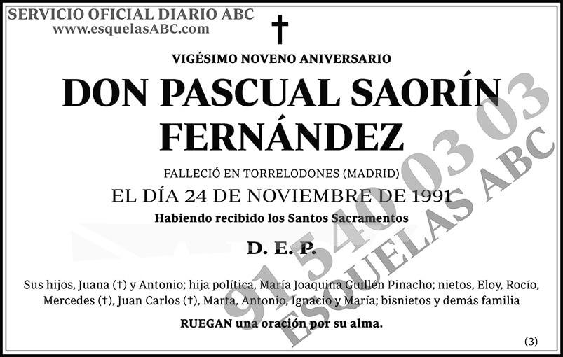 Pascual Saorín Fernández