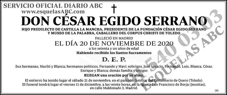 César Egido Serrano