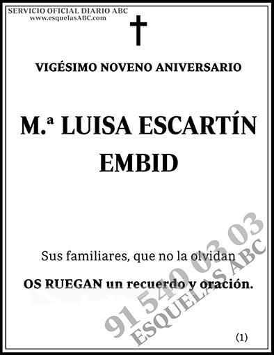 M.ª Luisa Escartín Embid