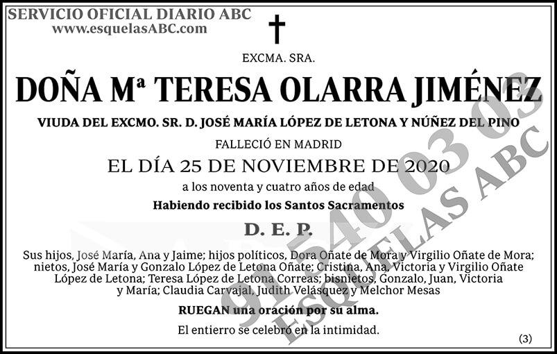 Mª Teresa Olarra Jiménez