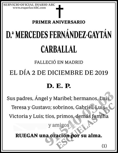 Mercedes Fernández-Gaytán Carballal