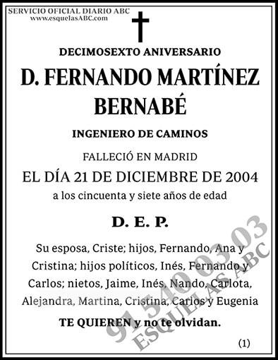 Fernando Martínez Bernabé