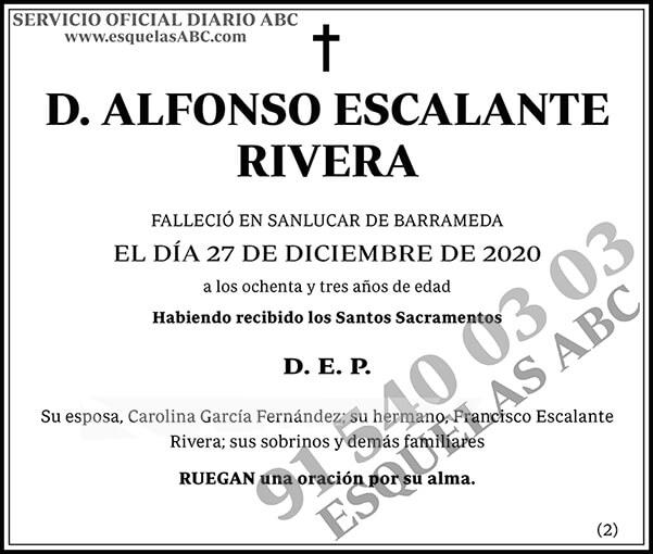 Alfonso Escalante Rivera