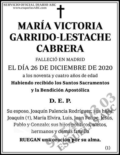 María Victoria Garrido-Lestache Cabrera