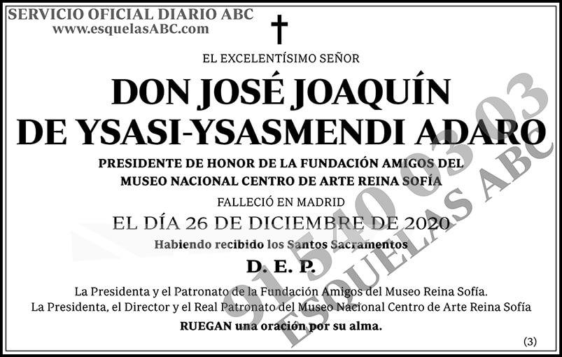 José Joaquín de Ysasi-Ysasmendi Adaro