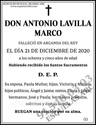 Antonio Lavilla Marco