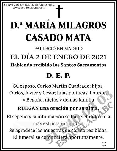 María Milagros Casado Mata