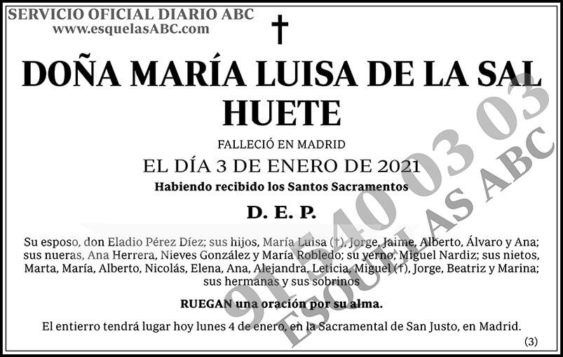 María Luisa de la Sal Huete