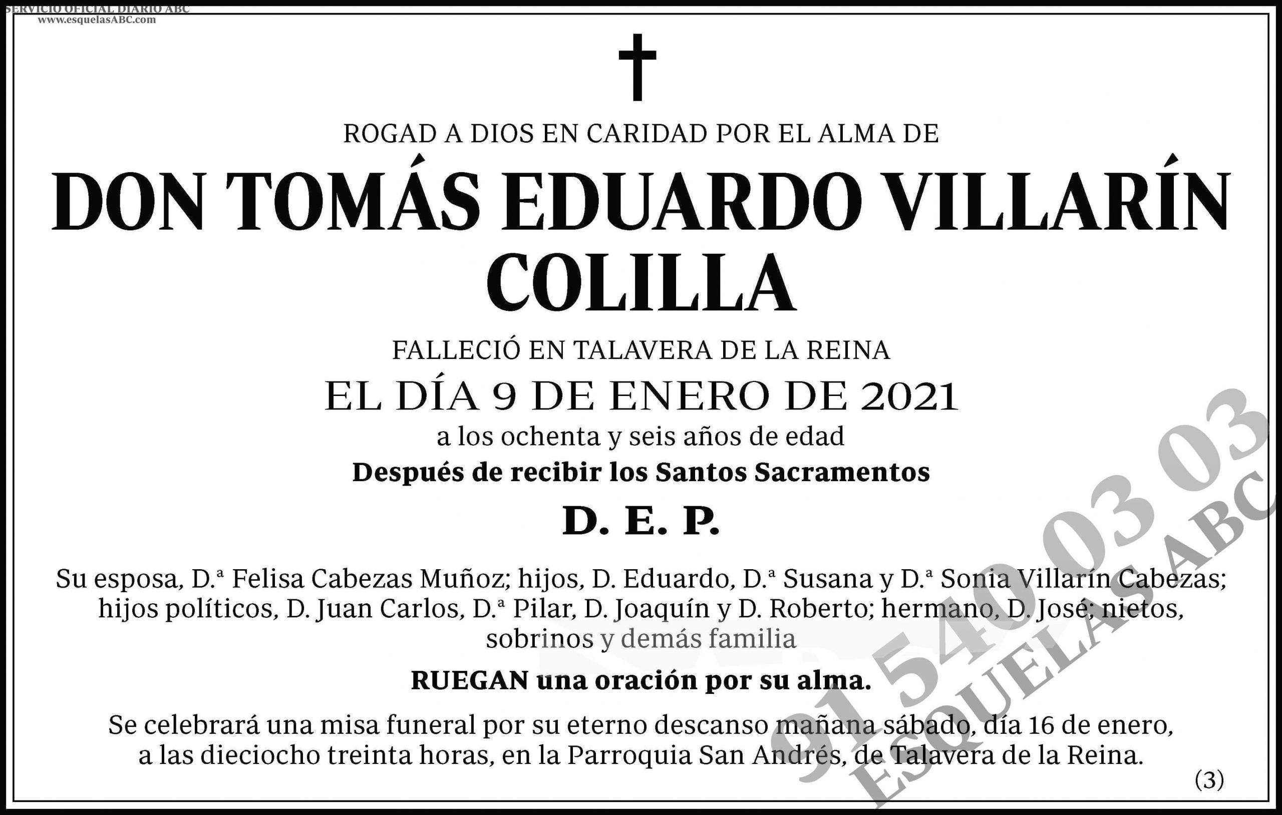 Tomás Eduardo Villarín Colilla