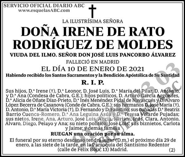 Irene de Rato Rodríguez de Moldes
