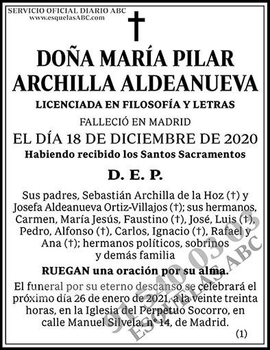 María Pilar Archilla Aldeanueva