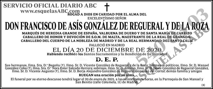 Francisco de Asís González de Regueral y de la Roza