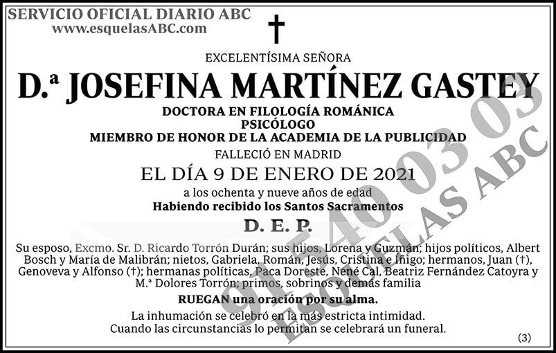 Josefina Martínez Gastey