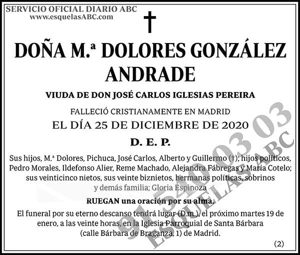 M.ª Dolores González Andrade