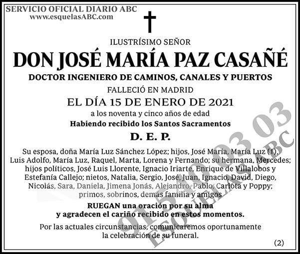José María Paz Casañé