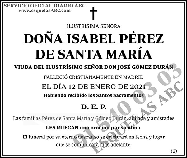 Isabel Pérez de Santa María