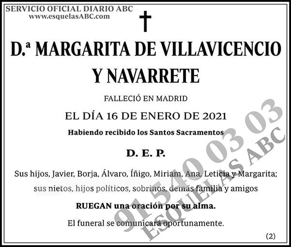 Margarita de Villavicencio y Navarrete