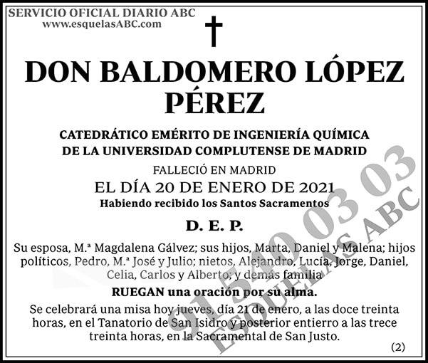 Baldomero López Pérez