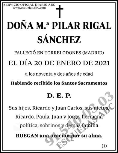 M.ª Pilar Rigal Sánchez
