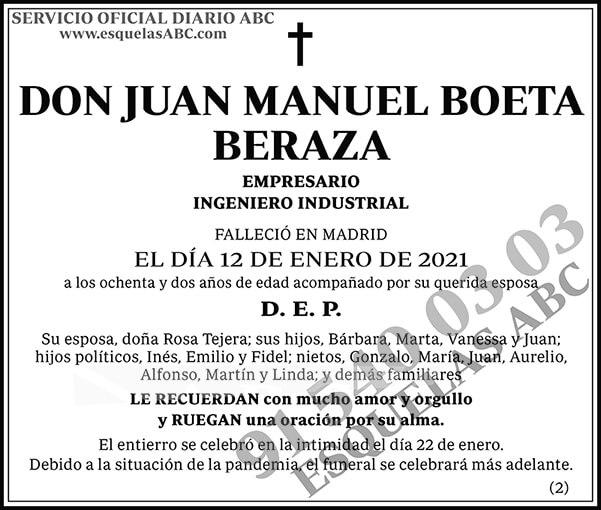 Juan Manuel Boeta Beraza