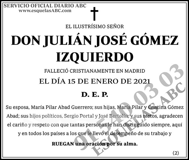 Julián José Gómez Izquierdo