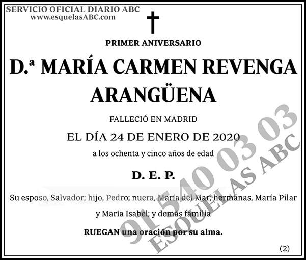 María carmen Revenga Arangüena