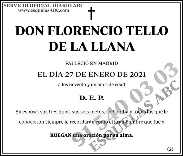 Florencio Tello de la Llana