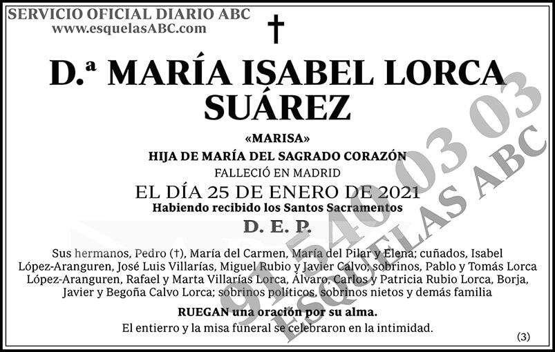 María Isabel Lorca Suárez