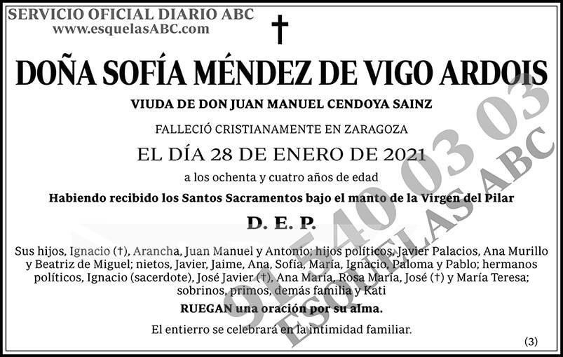 Sofía Méndez de Vigo Ardois