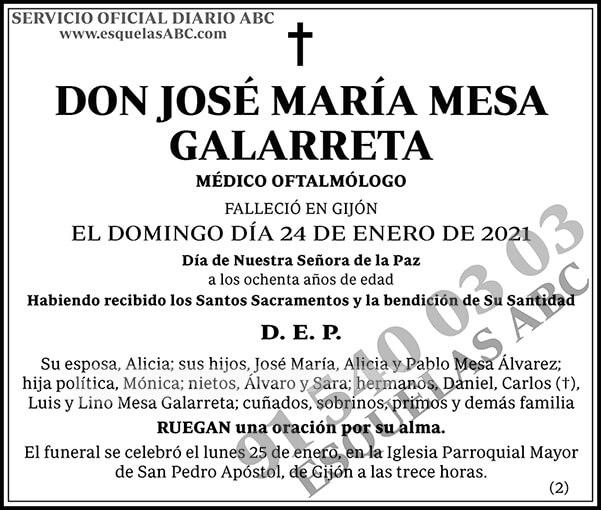 José María Mesa Galarreta