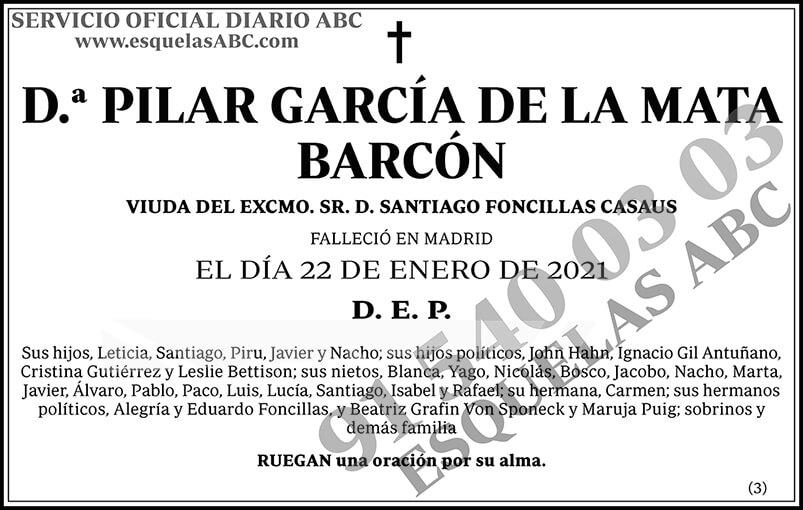 Pilar García de la Mata Barcón